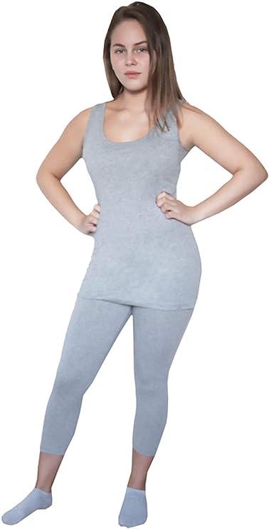ALBERO - Leggings 3/4 para mujer, 2 unidades, algodón orgánico, 3 ...
