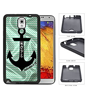 Hebrews 6:19 Teal Chevron And Anchor Rubber Silicone TPU Cell Phone Case Samsung Galaxy Note 3 III N9000 N9002 N9005 by icecream design