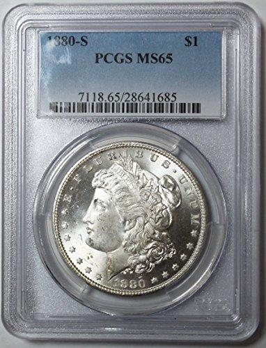 1880 S Morgan Silver Dollar $1 MS65 PCGS