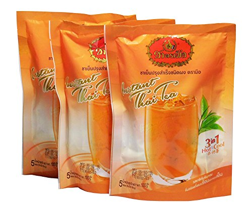Number One Brand Instant Thai Milk Tea 3 in 1, Delicious Aromatic Original Thai Milk Tea 3 Bags (3 Bags X 5 Packs) by Number-One