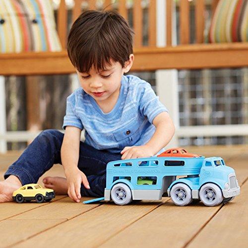 51DB7ApzAWL - Green Toys Car Carrier Vehicle Set Toy, Blue