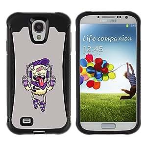 WAWU Rugged Armor Slim Protection Case Cover Shell -- cartoon dog funny cute pink drink -- Samsung Galaxy S4 I9500