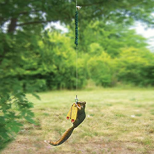 bestheart Squirrel Feeder Spring Feeder for Squirrel Bungee Jumping for Outside Squirrel Corn Cob Holder (A)