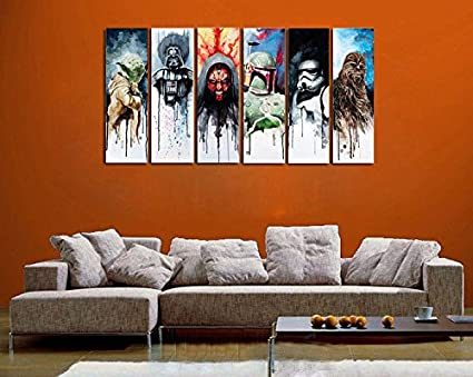 Amazon.com: 100% Genuine Real Hand Painted Star Wars Man 6 Pieces ...