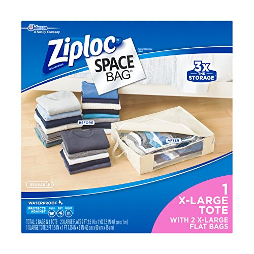 Ziploc Space Bag 3ct Variety Pack (2 XL Flat, 1 XL Shell) (Space Bag Under Bed compare prices)