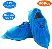 Oceantree Shoe Covers Disposable -100 Pack (50 Pairs) Disposable Shoe & Boot Covers Waterproof Slip Resist