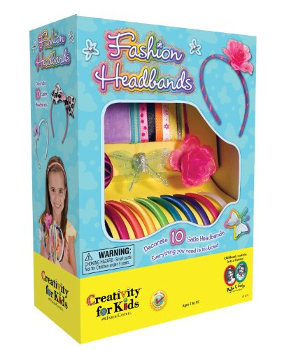 Creativity for Kids Fashion Headbands Craft Kit, Makes 10 Unique Headbands