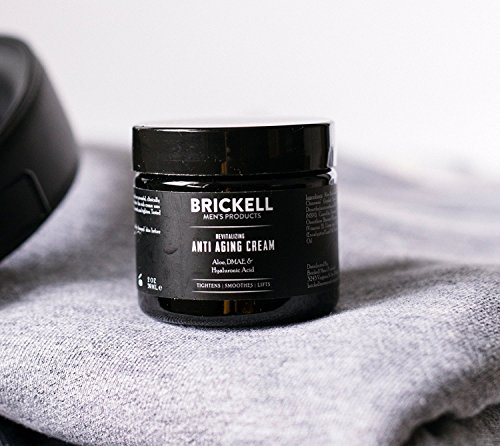 51DB854ReCL - Brickell Men's Revitalizing Anti-Aging Cream For Men, Natural and Organic Anti Wrinkle Night Face Cream To Reduce Fine Lines and Wrinkles, 2 Ounce, Unscented