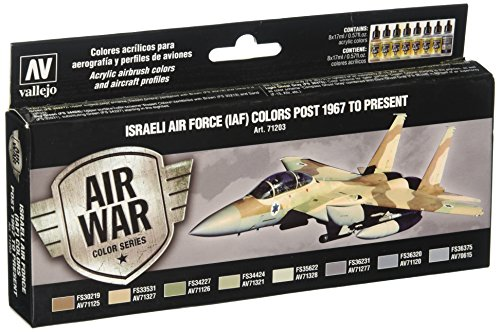 Israeli Air - Vallejo Israeli Air Force (Iaf)  Post 1967 to Present Set(8), 17ml