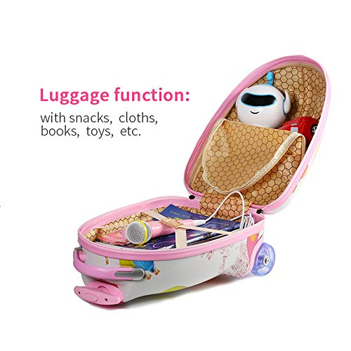 LUCKYBIRD Karaoke Machine for Kids Multifunctional Travel Luggage & Bluetooth Speaker with Microphone for Girls by LUCKYBIRD (Image #4)