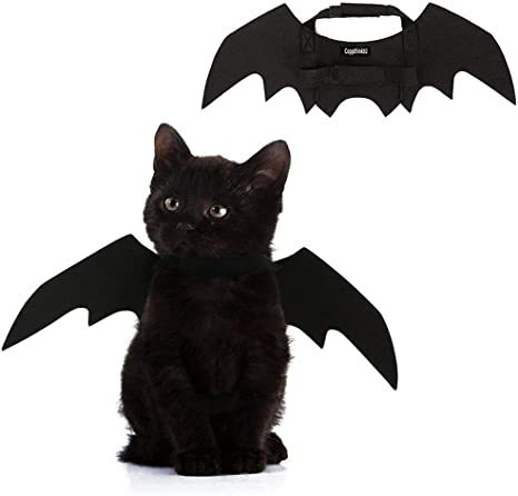 Costume da gatto nero ali di pipistrello Cosplay Costumi per animali da compagnia vestiti per gatti piccoli cani cuccioli per gatti MEKO