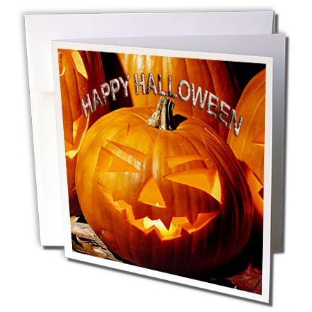3dRose Happy Halloween - Greeting Cards, 6 x 6 inches, set of 12 (gc_2836_2) -