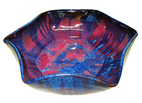 Thrown Stoneware Bowl (David Changar Celestial Hand Thrown Stoneware Bowl, Small, Blue Flambé)
