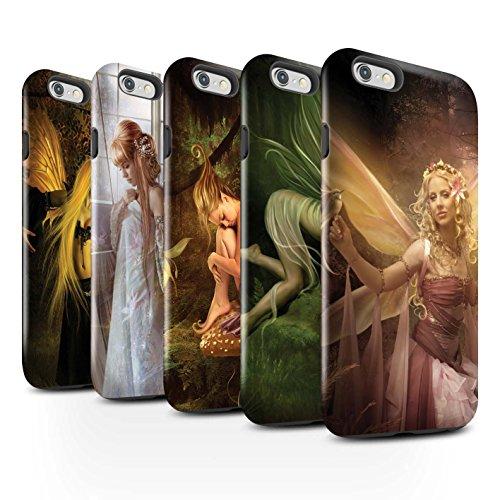 Officiel Elena Dudina Coque / Brillant Robuste Antichoc Etui pour Apple iPhone 6S / Pack 10pcs Design / Fées Élégantes Collection