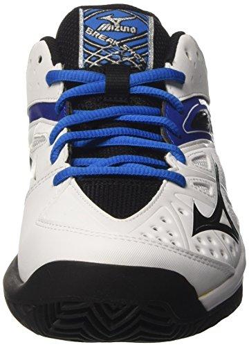 Mizuno 61gc1725 - Zapatillas de tenis Hombre Multicolore (White/Black/DirectoireBlue)