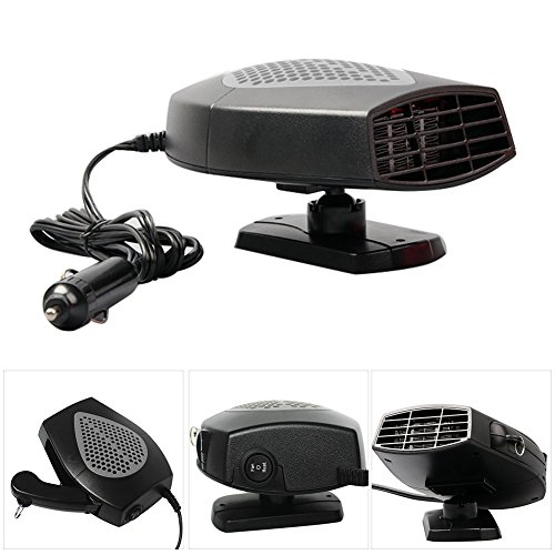 Annababy Car Auto Heater Fan Portable Car Vehicle Heating Cooling Fan Defroster Demister 12V 200W 3 Outlet