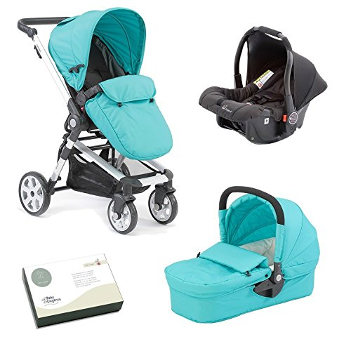 Beep Twist Travel System 3 in 1 prams with car seat (Light Blue)