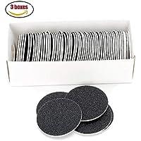 CWPET Discos de Papel de Lija de Repuesto (60 Unidades), Discos de Papel de Lija de Repuesto para el removedor de Callos de pie eléctrico