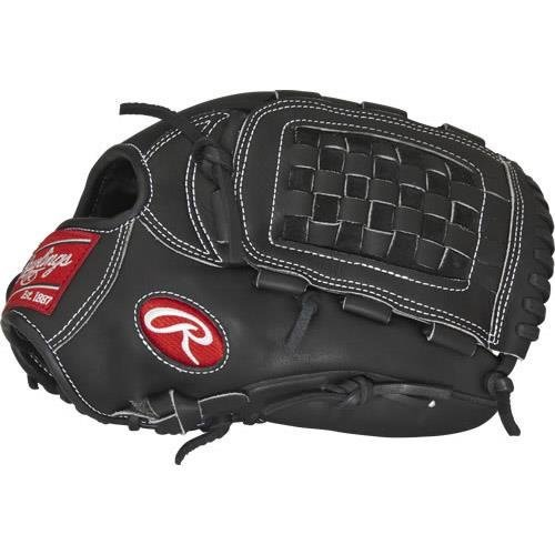 Rawlings Heart of the Hideデュアルコアソフトボールグローブシリーズ B01GUEIY8Y Black First Base Mitt|12.5インチ Black First Base Mitt