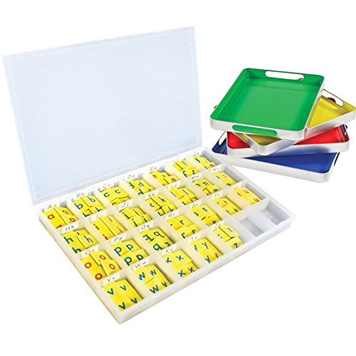 Really Good Stuff MAGtivity Tins with Soft Touch Magnetic Foam Letter Tiles Classroom Kit by Really Good Stuff