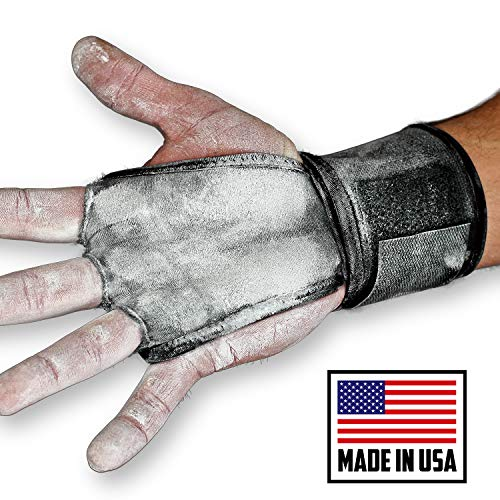 JerkFit WODies Full Palm Protection to Reduce Hand Tearing While Adding Crucial Wrist Support for Weightlifting, Workouts WODs, Cross Training, Fitness and Calisthenics (Black, Small)