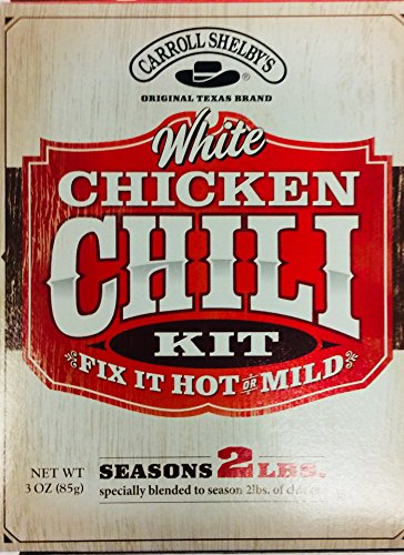 (Carrol Shelby's White Chicken Chili Kit 3 Ounce (Pack of)
