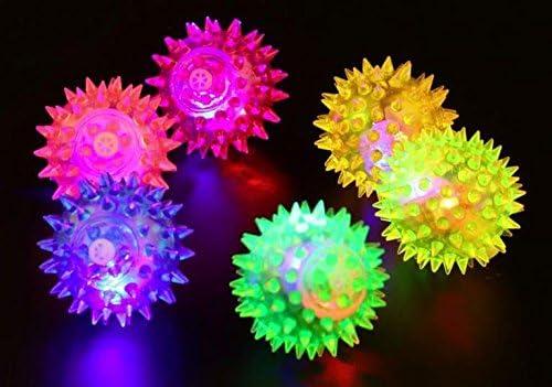 Perros y Gatos juguete pelota de goma con LED Luz puntas DM 6,5 cm ...