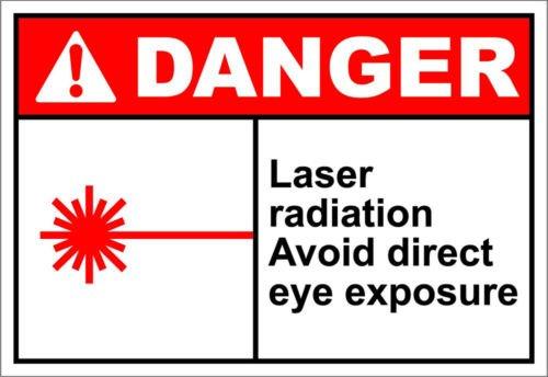 Direct Print Custom Laser (Laser Radiation Avoid Direct Eye Exposure Danger OSHA/ANSI Aluminum METAL Sign 18 inch x 24 inch custom Home Outdoor garadge Cave decor)