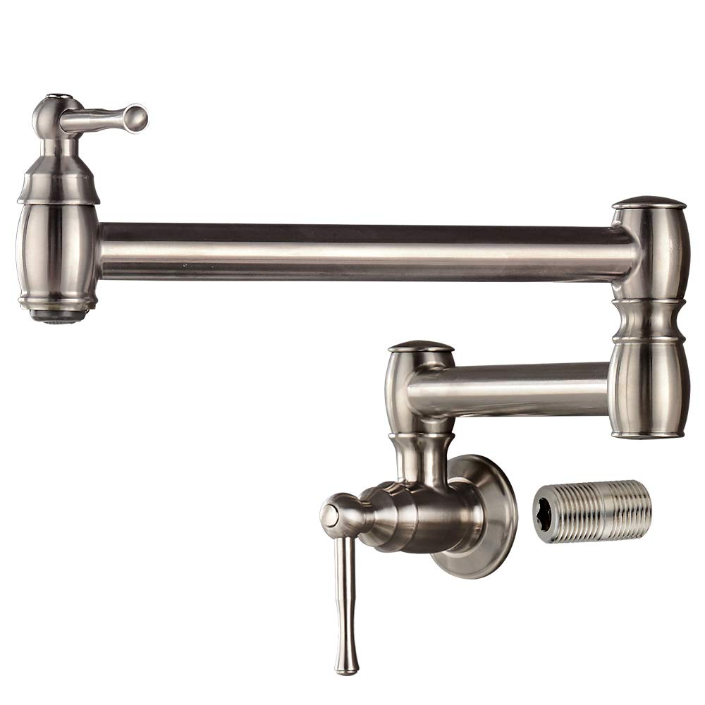 Stainless Steel Pot Filler Faucet Wall Mounted Folding Stretchable,Brushed Nickel,918BN,HAOXIN by HAOXIN