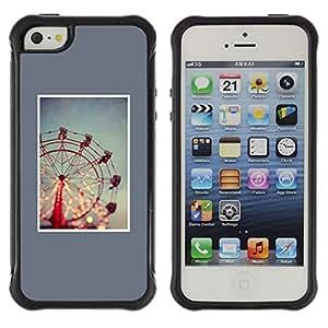 Suave TPU GEL Carcasa Funda Silicona Blando Estuche Caso de protección (para) Apple Iphone 5 / 5S / CECELL Phone case / / Wheel Blue Minimalist Night Lights /