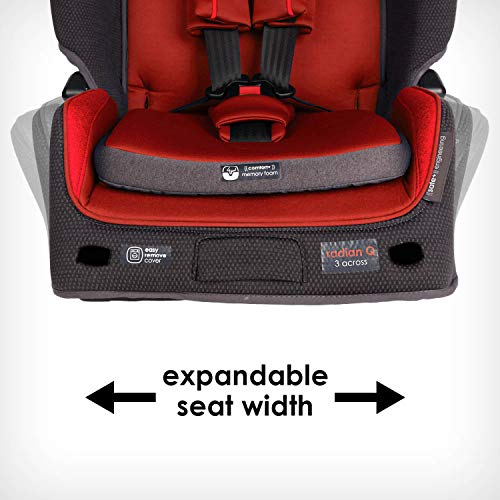 51DBBACJoOL - Diono Radian 3QX 4-in-1 Rear & Forward Facing Convertible Car Seat | Safe+ Engineering 3 Stage Infant Protection, 10 Years 1 Car Seat, Ultimate Protection | Slim Design - Fits 3 Across, Red Cherry