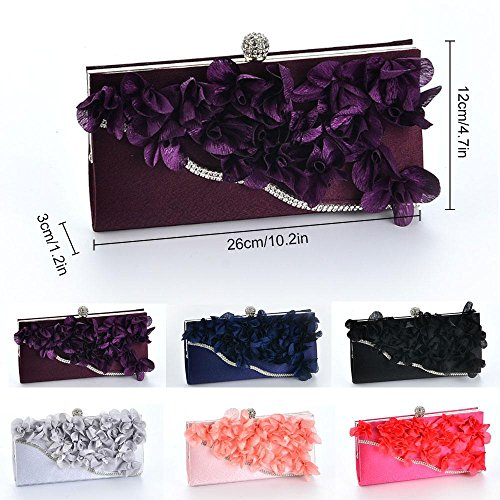 Arc Bag Clutches Flower Purse Bags Evening Dinner Aolvo Party Lady Diamond Clutch With S61waxaq