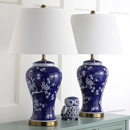 Safavieh Lighting Collection Spring Blossom Multi Floral 29-inch Table Lamp (Set of 2) - Floral Ceramic Table Lamp