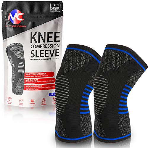 FDA Approved Compression Knee Sleeve for Men & Women - Knee Brace Support - Breathable & Comfortable...