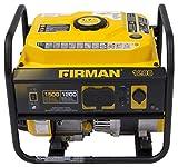 Firman P01202 1200-Watt Gas Powered Recoil Start Portable Generator with OHV Engine