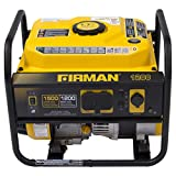 Firman P01202 1200-Watt Gas Powered Recoil Start Portable Generator with OHV Engine