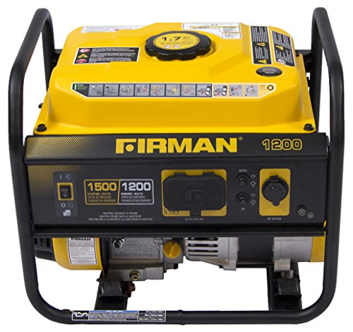 Firman P01202 1200-Watt Gas fueled Recoil Start lightweight Generator using OHV Engine For Cheap