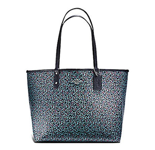 COACH REVERSIBLE SIGNATURE TOTE (Mist - Multicolor Coach Handbags