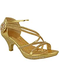 0aff4e94646ad Womens Low Heel Diamante Bridal Wedding Sandals Strappy Party Shoes Size