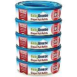 BabyBreeze Diaper Pail Refills Bags for Diaper Genie - 1400 Count (5-Pack)