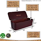 TEYGA Bamboo Cable Management Box - Stylish Cord