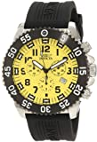 Invicta Men's 10357 Pro Diver Specialty Chronograph Yellow Dial Black Polyurethane Watch, Watch Central