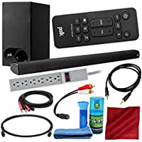 Polk Audio Signa S1 Universal TV Sound Bar and Wireless Subwoofer System with 6-Outlet Surge-Protected Strip, LCD Screen Cleaning Kit, and Accessory Bundle