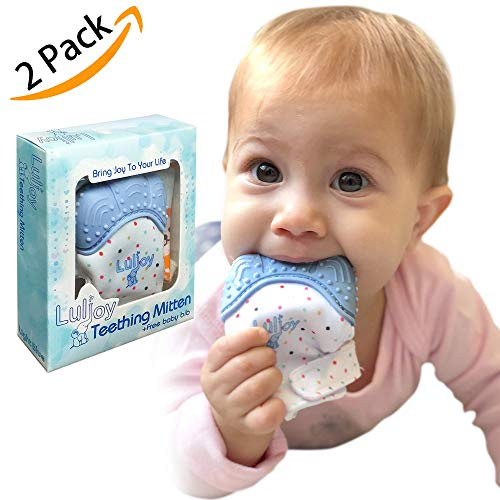 LuliJoy Teething Mitten Set FDA Approved product image