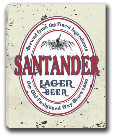 santander-lager-beer-stretched-canvas-sign-16-x-20