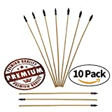 adult starter bow and arrow set - UTeCiA Safety Archery Target Arrows - 18 Inch Premium Wooden Arrows For Kids and Beginners   Soft & Flexible Rubber Tips   Well Balanced & Durable   Pack of 10