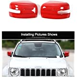 Dwindish Red ABS Car Mirror Rearview Cover Trim For Jeep Renegade 2015 Up