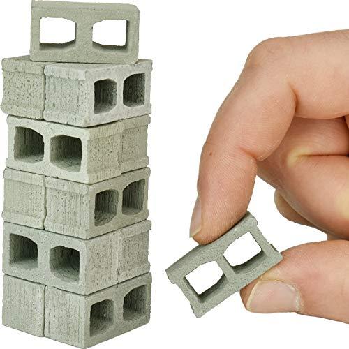 Acacia Grove Mini Cinder Blocks, 12 Pack, 1/12 Scale