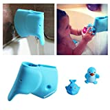 Baby : Baby Bath Faucet Cover - Bathtub Spout Cover for Kids - Infant Baby Bathtub Toddlers - Child Bathroom Accessories Faucet Protector - Silicone Faucet Cover Baby Blue Elephant - Free Baby Bathtub Toys
