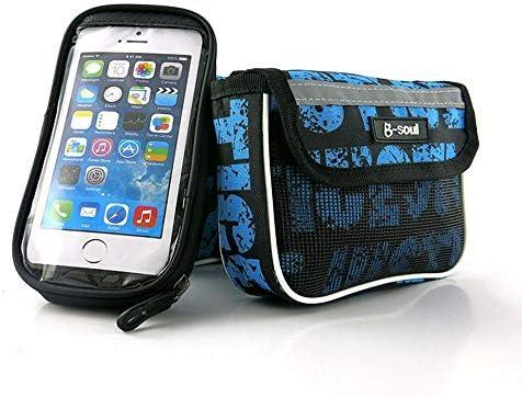 自転車バッグ 自転車トップチューブバッグ フレームバッグ 耐震性の耐震性の耐水性がある水バイクフレーム袋は電話袋を含みます 適用 旅行/アウトドア/スポーツ/遠足など (Color : Blue, Size : 7.22